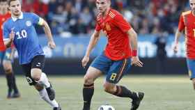 Fabián en un partido con La Selección. Foto: Twitter. (@SeFutbol)
