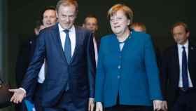 Tusk ha visitado este lunes a Merkel en Berlín para preparar la decisión sobre el 'brexit'