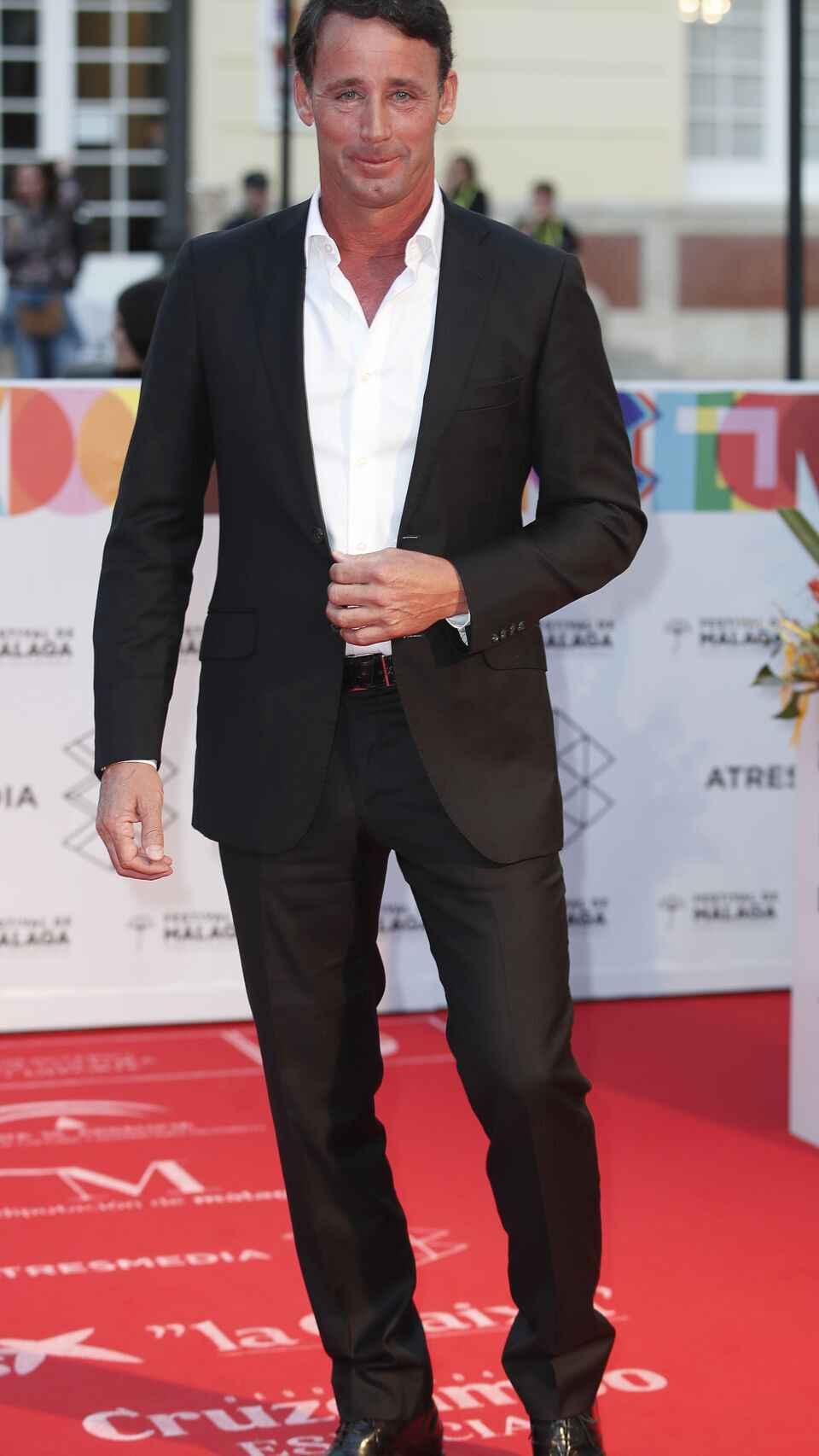 Álvaro Muñoz Escassi en la alfombra roja del Festival de Cine de Málaga 2019.