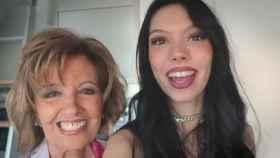 María Teresa Campos y Alejandra Rubio en la última entrega del canal de la joven en Mtmad, grabado en la casa de la presentadora.