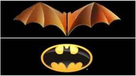 Comparativa entre el logo del centenario del Valencia y el de Batman