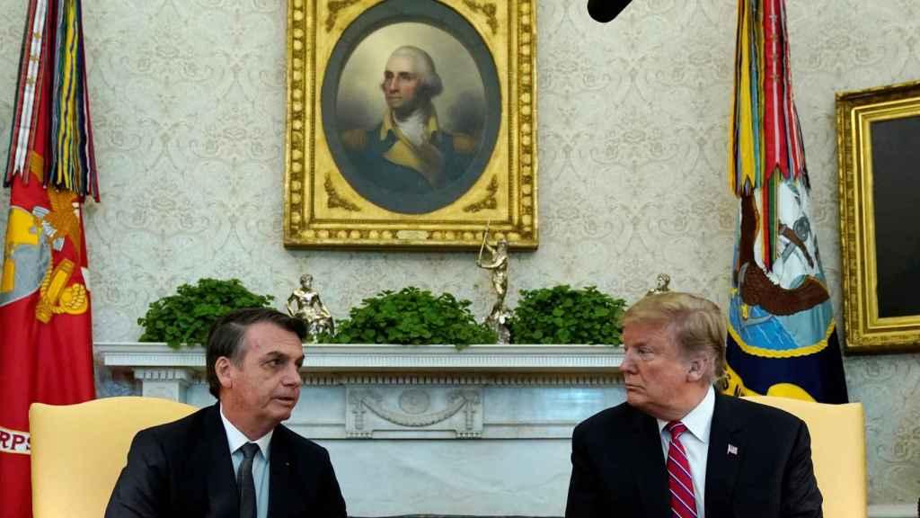 Los presidentes de Estados Unidos y Brasil, Donald Trump y Jair Bolsonaro, respectivamente, en la Casa Blanca.