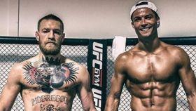 Connor McGregor y Cristiano Ronaldo. Foto: Instagram (@thenotoriousmma)