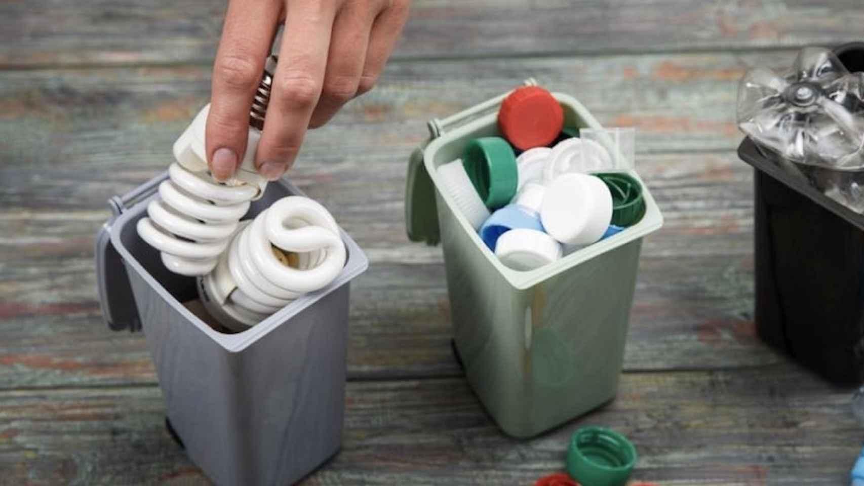 como reciclar bombillas