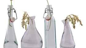 Reciclar botellas de vino puede ser todo un arte