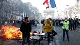 Protestantes durante la manifestación del sábado.