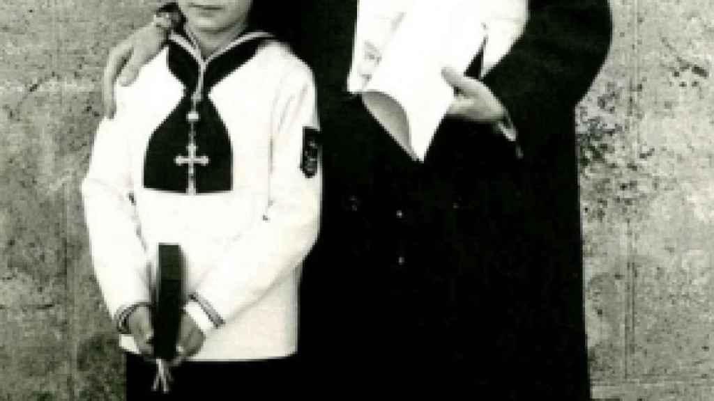 Ana María Lajusticia en la comunión de su hijo