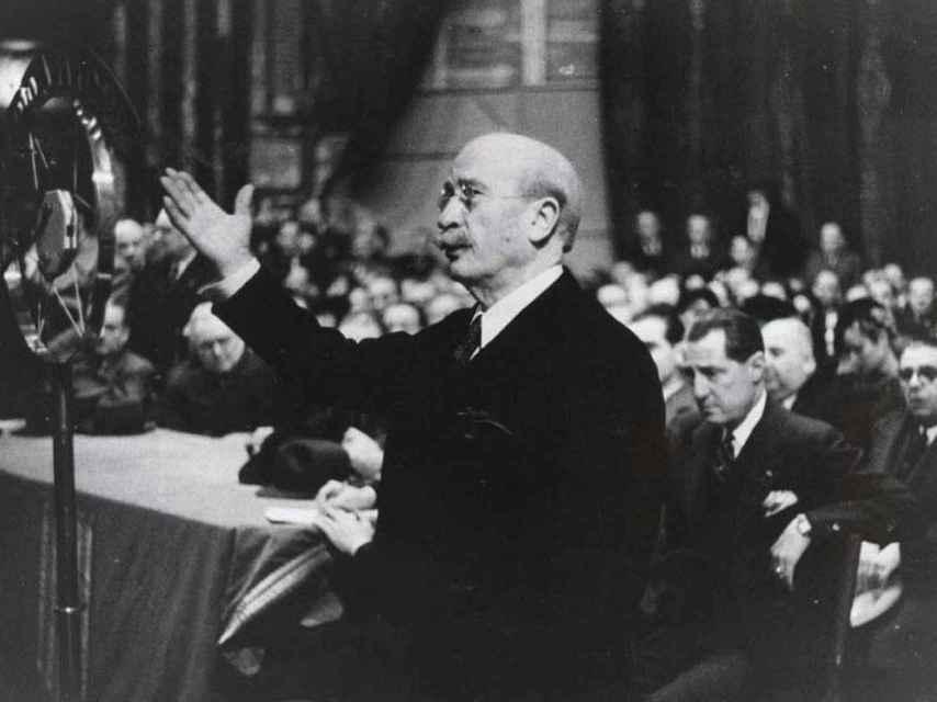 Lerroux durante un discurso.