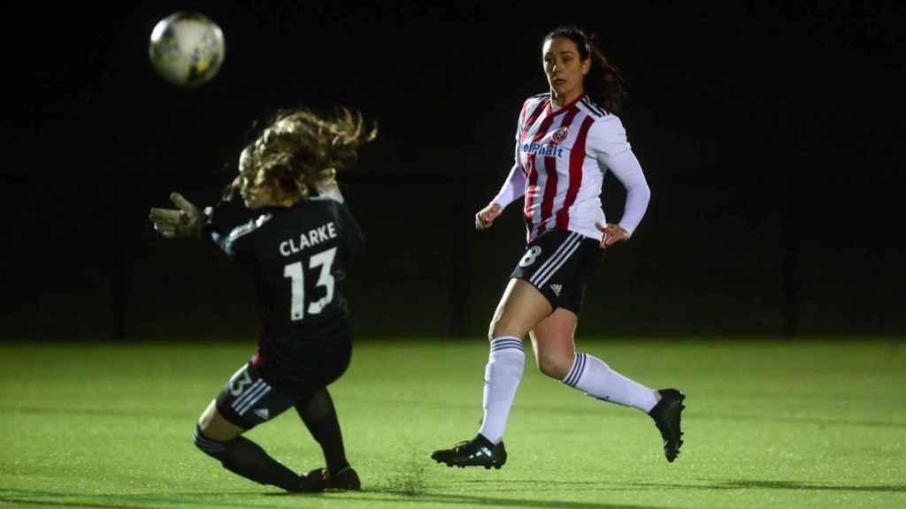 La futbolista inglesa Sophie Jones. Foto: Twitter (@sufc_women)