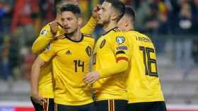 Hazard celebra con Bélgica un gol contra Rusia