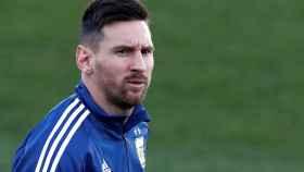 Lionel Messi, con Argentina