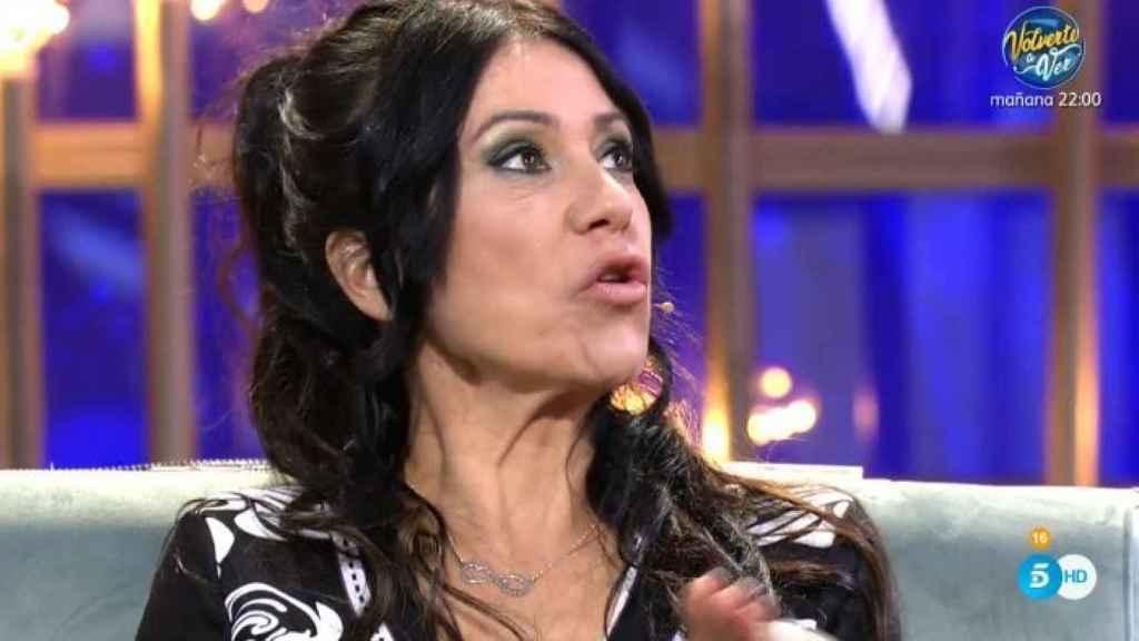 Maite Galdeano en el plató de Telecinco.
