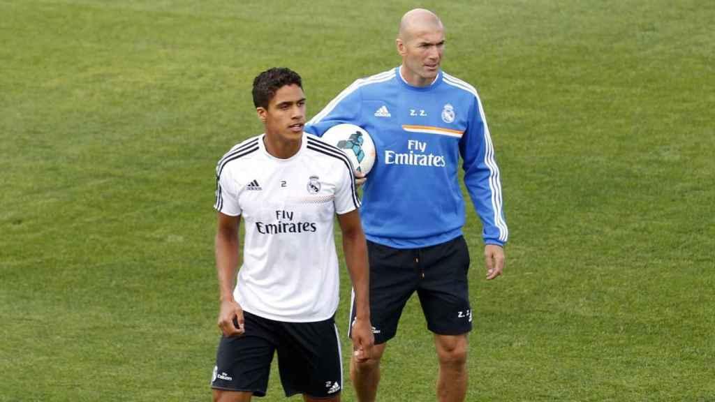 Varane y Zidane en 2014