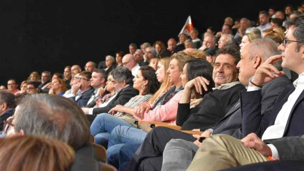 A la derecha, Lorenzo Sánchez junto a Rafael Simancas en un acto del PSOE.
