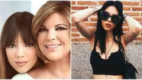 Alejandra Rubio junto a su madre al presentarla en '¡HOLA!' y una foto actual de sus redes sociales.
