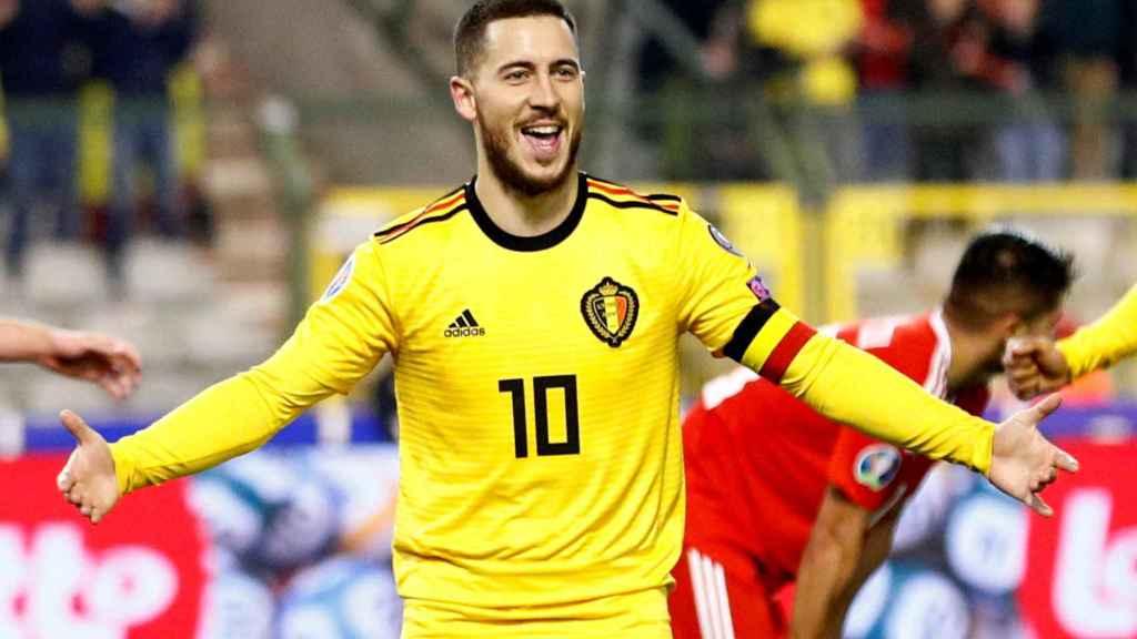Eden Hazard, durante un partido de Bélgica