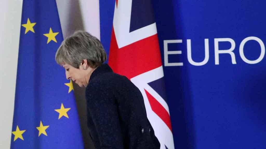 May se marcha tras una rueda de prensa en el Consejo Europeo