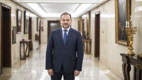 José Luis Ábalos, número tres del PSOE y ministro de Fomento, antes de la entrevista con EL ESPAÑOL.