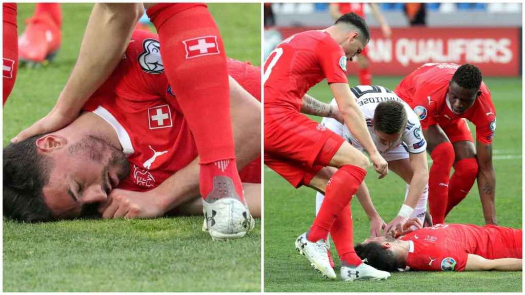 Susto en Suiza: Schär queda inconsciente por un fuerte golpe y sigue jugando