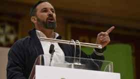 Santiago Abascal, en un acto celebrado en el Paraninfo de la UCLM de Ciudad Real.
