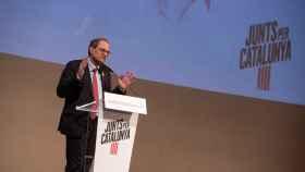 Quim Torra, presidente de la Generalitat, en la presentación del candidato de JxCat por Lleida.