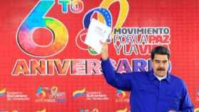 Maduro durante un acto con simpatizantes este sábado en Caracas