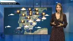 Fotograma de la previsión del tiempo para este martes.
