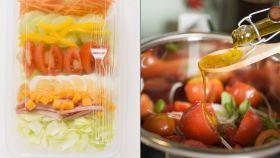 Ensalada preparada vs ensalada hecha en casa.