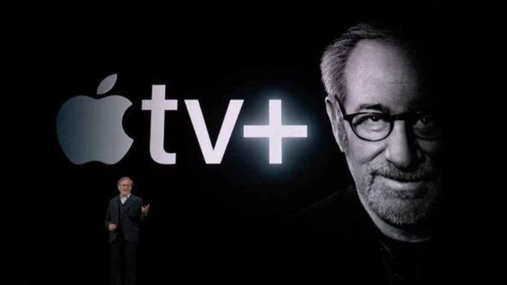 Spielberg en la presentación.