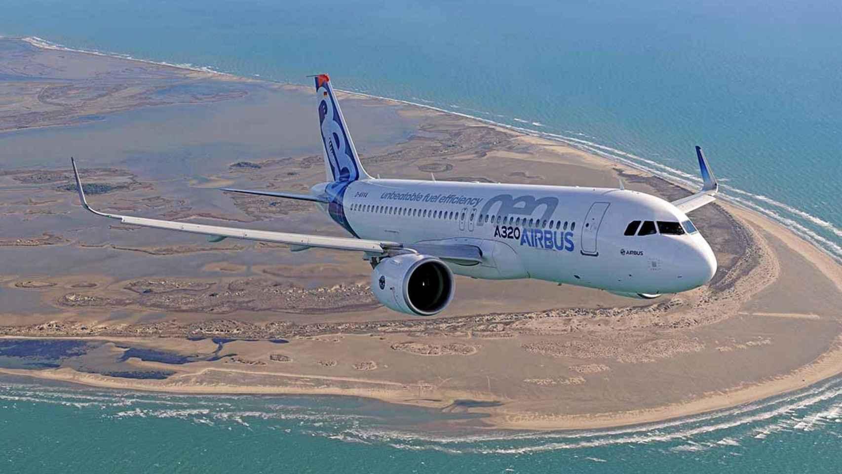 Un A320neo de Airbus.