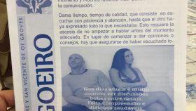 Ejemplar de la hoja parroquial con la fotografía de los actores porno.