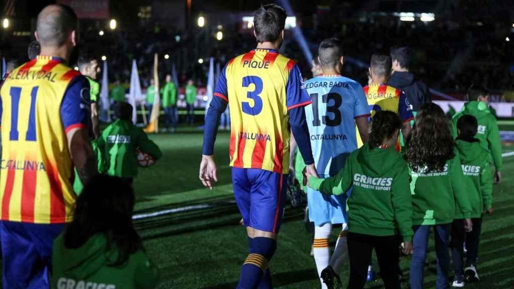 Gerard Piqué con la selección catalana. Foto: Twitter. (@FCF_CAT)