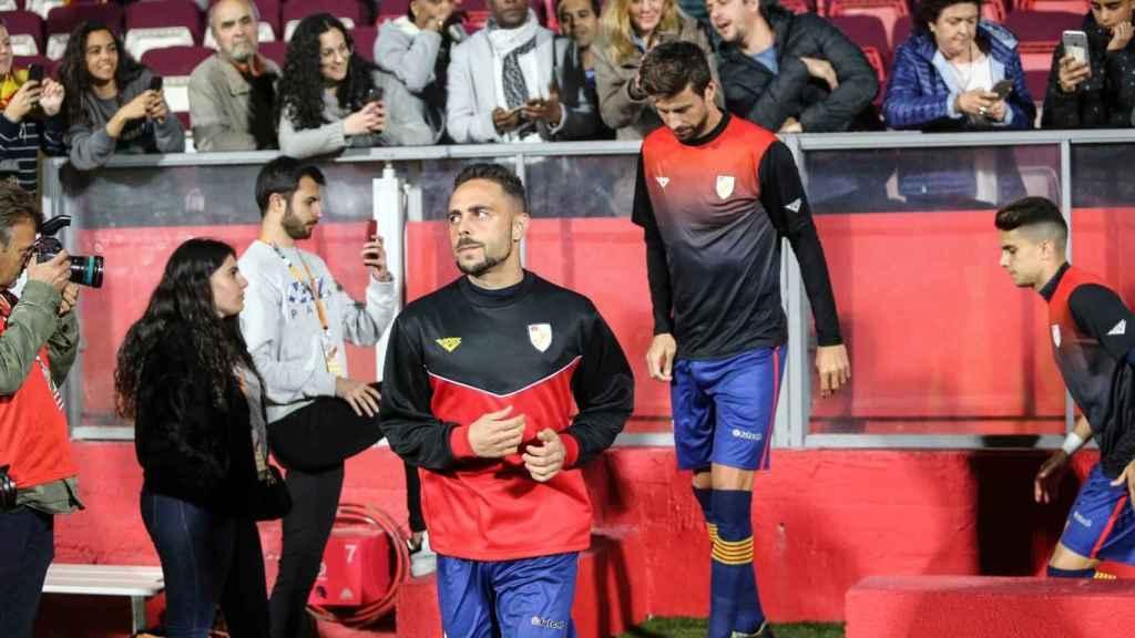 Piqué con la selección catalana. Foto: Twitter. (@FCF_CAT)