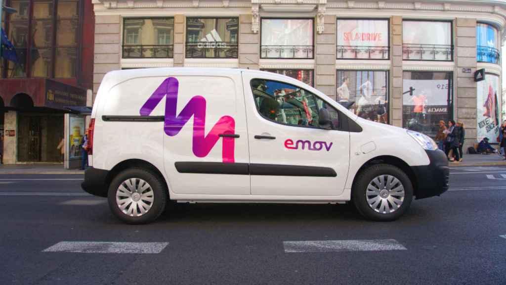 Imagen de una de las furgonetas Emov que empezarán a operar en Madrid.