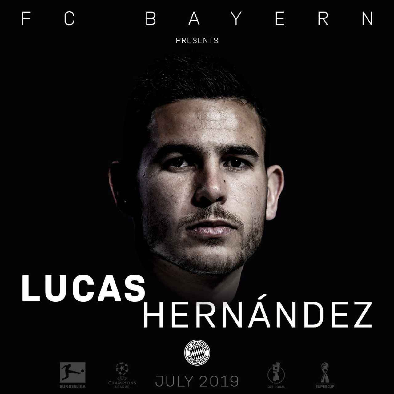 Lucas Hernández, nuevo jugador del Bayern. Foto: Twitter (@FCBayern)