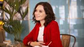 Isabel Díaz Ayuso, candidata del PP al Gobierno de la Comunidad de Madrid, en un momento de la entrevista.