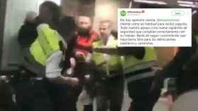 Imagen del vídeo grabado por un testigo