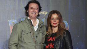 Poty Castillo e Isabel Navarro en el estreno de 'Dumbo'.