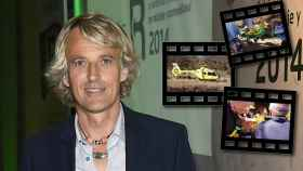 Jesús Calleja en un montaje junto a algunas capturas del vídeo de su rescate en helicóptero.