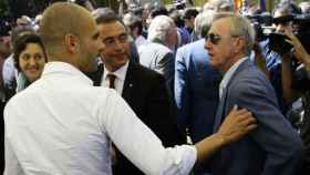 Cruyff y Guardiola en un acto