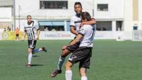 El Ontinyent celebra un gol al Atlético Baleares. Foto: Twitter (@OntinyentCF)