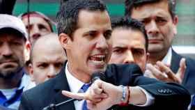 Juan Guaidó durante un acto en Caracas.