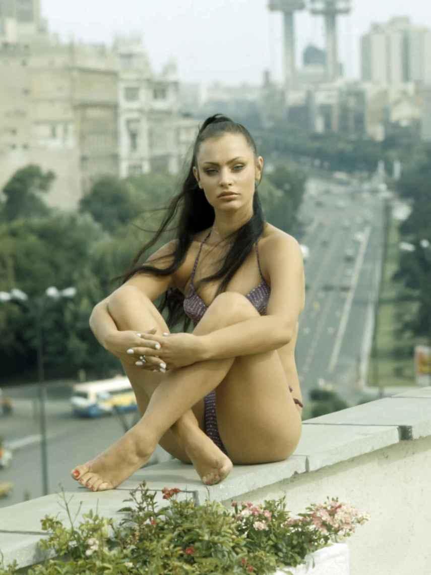 Nadiuska en un posado en España en 1970.
