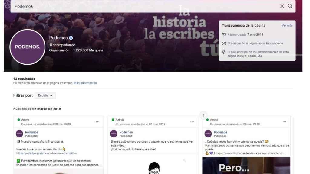Anuncio Podemos
