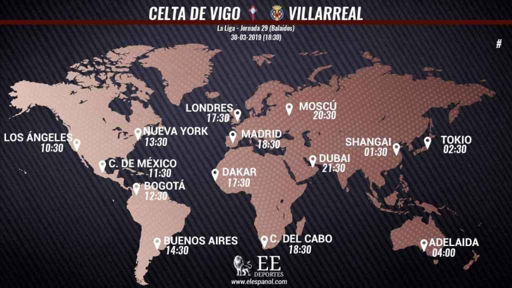 Horario internacional del Celta de Vigo - Villarreal