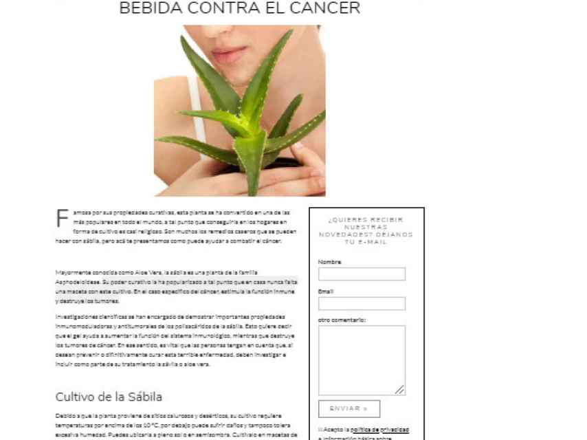 Publicación en la página web del centro Nagual, dirigido por Mariano Alameda.