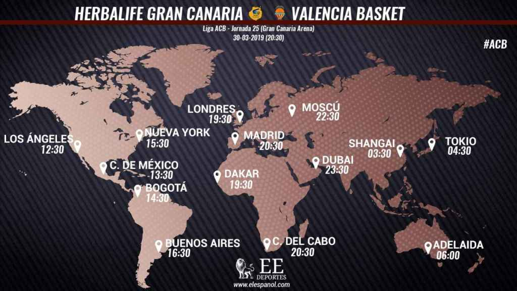 Horario Herbalife Gran Canaria - Valencia Basket