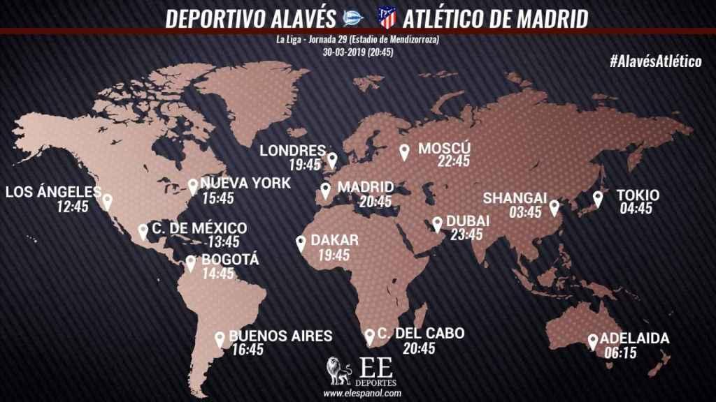 Horario Alavés - Atlético de Madrid