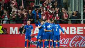 Los jugadores del Athletic celebran un gol ante el Girona. Foto: Twitter (@AthleticClub)