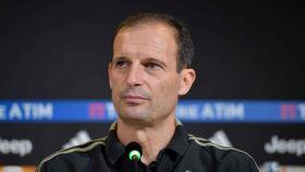 Massimiliano Allegri, entrenador de la Juventus, en rueda de prensa